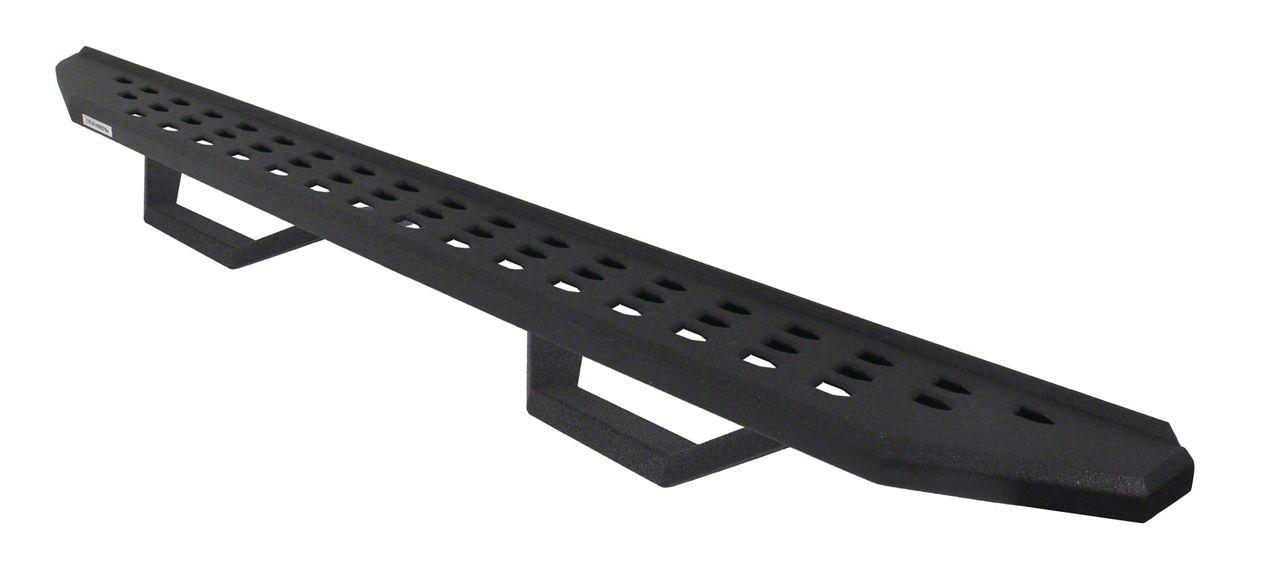 Go Rhino RB20 Running Boards w/ Drop Steps - Black Bedliner Coating (07-18 Jeep Wrangler JK 4 Door)
