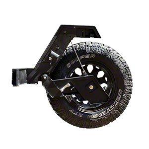 Go Rhino Rear bumper w/ Lift-Assist Spare Tire Carrier (07-18 Jeep Wrangler JK)