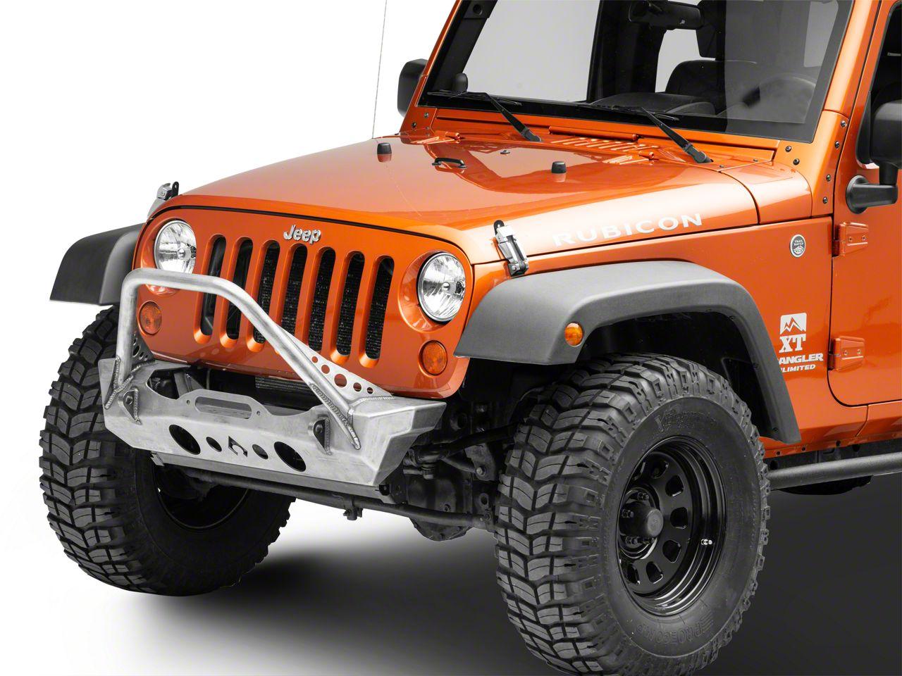Artec Industries Nighthawk Front Bumper w/ Mid-Tube Stinger (07-18 Jeep Wrangler JK)