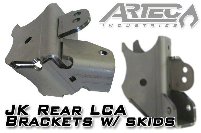Artec Industries Rear Lower Control Arm Brackets w/ Skid Plates (07-18 Jeep Wrangler JK)