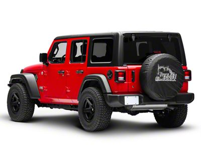 Rough Country Spare Tire Cover (87-19 Jeep Wrangler YJ, TJ, JK & JL)