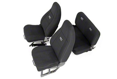 Rough Country Neoprene Seat Covers - Black (91-95 Jeep Wrangler YJ)