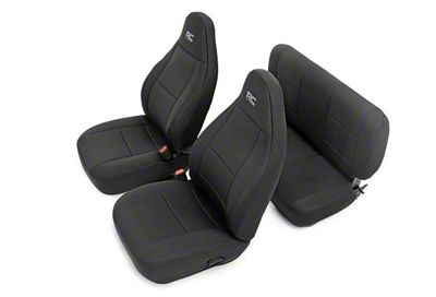 Rough Country Neoprene Seat Covers - Black (03-06 Jeep Wrangler TJ)