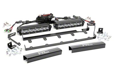 Rough Country 8 in. Chrome Series Vertical LED Light Bar Grille Kit - 2 Lights (07-18 Jeep Wrangler JK)