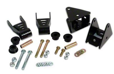 Rough Country Front Shackle Reversal Kit (87-95 Jeep Wrangler YJ)