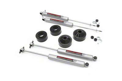 Rough Country 1.75 in. Suspension Lift Kit w/ Shocks (07-18 Jeep Wrangler JK)