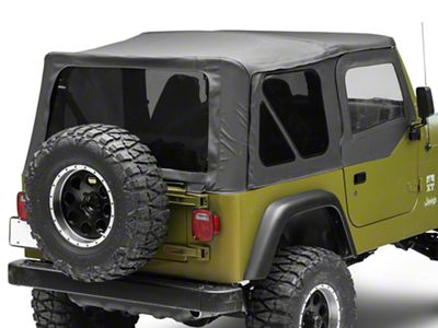 Rough Country Replacement Soft Top - Black Denim (97-06 Jeep Wrangler TJ w/ Half Steel Doors, Excluding Unlimited)