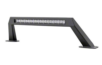 Rough Country Stubby Bumper Light Bar Hoop w/ 20 in. Chrome Series LED Light Bar (18-19 Jeep Wrangler JL)