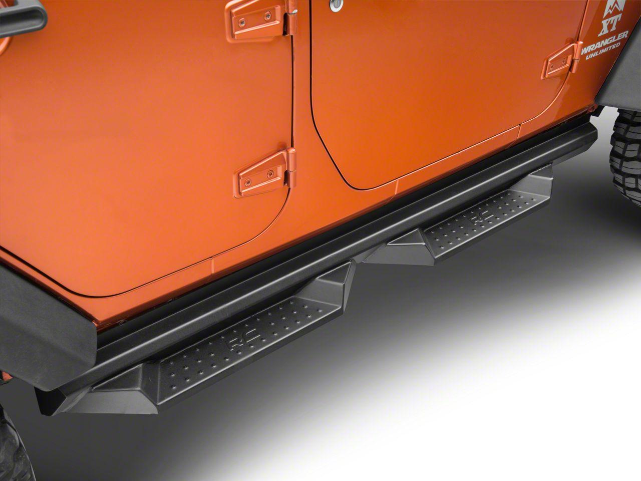 Rough Country DS2 Drop Side Step Bars (07-18 Jeep Wrangler JK 4 Door)