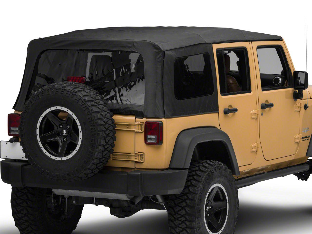Rough Country Replacement Soft Top - Black Denim (10-18 Jeep Wrangler JK 4 Door)