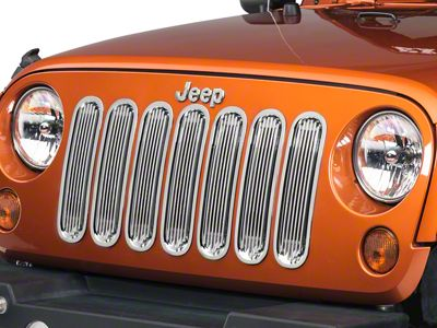 Rugged Ridge Billet Alumimum Grille Inserts - Polished (07-18 Jeep Wrangler JK)