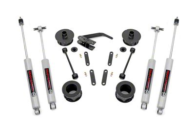 Rough Country 2.5 in. Series II Suspension Lift Kit w/ Shocks (07-18 Jeep Wrangler JK)