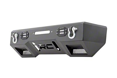 Rough Country Black Series LED Stubby Front Bumper w/ Winch Mount (07-18 Jeep Wrangler JK)