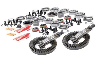 Rough Country Dana 30 Front Axle/44 Rear Axle Ring Gear and Pinion Kit w/ Install Kit - 4.56 Gears (07-18 Jeep Wrangler JK, Excluding Rubicon)