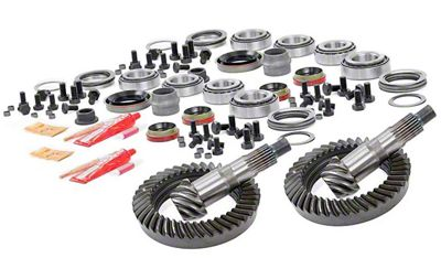 Rough Country Dana 30 Front Axle/44 Rear Axle Ring Gear and Pinion Kit w/ Install Kit - 4.88 Gears (07-18 Jeep Wrangler JK, Excluding Rubicon)