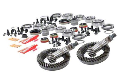 Rough Country Dana 30 Front Axle/44 Rear Axle Ring Gear and Pinion Kit w/ Install Kit - 5.13 Gears (07-18 Jeep Wrangler JK, Excluding Rubicon)