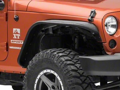 Rough Country Tubular Front & Rear Fender Flares (07-18 Jeep Wrangler JK)