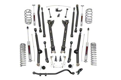 Rough Country 2.5 in. X-Series Long Arm Suspension Lift Kit (97-06 4.0L Jeep Wrangler TJ, Excluding Unlimited)