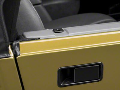 Rugged Ridge Half Door Insert Set - Black (87-06 Jeep Wrangler YJ & TJ)