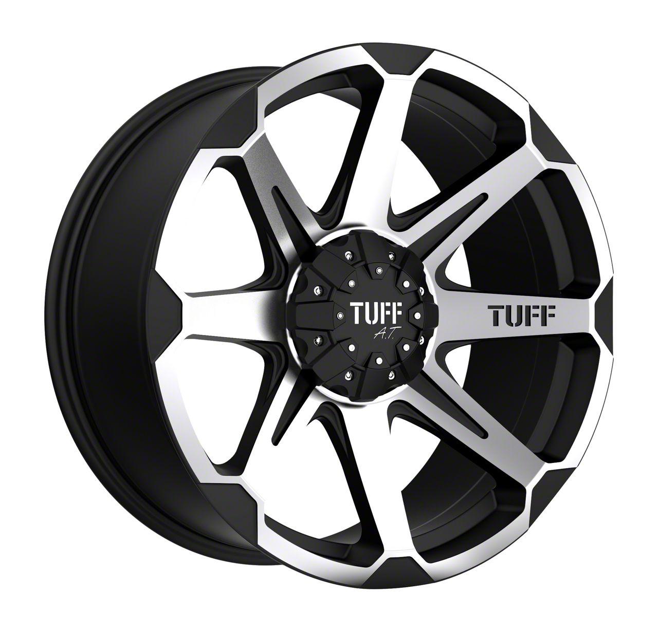 Tuff A.T. T05 Flat Black Machined Wheel - 17x9 (87-06 Jeep Wrangler YJ & TJ)