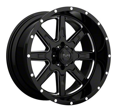 Tuff A.T. T15 Gloss Black Milled Wheel - 22x10 (87-06 Jeep Wrangler YJ & TJ)