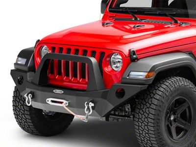 Rock-Slide Engineering Rigid Series Full Front Steel Bumper w/ Bull Bar & Winch Plate (18-19 Jeep Wrangler JL)