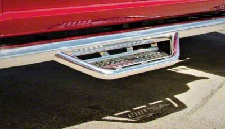 N-Fab Cab Length Podium Nerf Side Step Bars - Polished Stainless (07-18 Jeep Wrangler JK 2 Door)