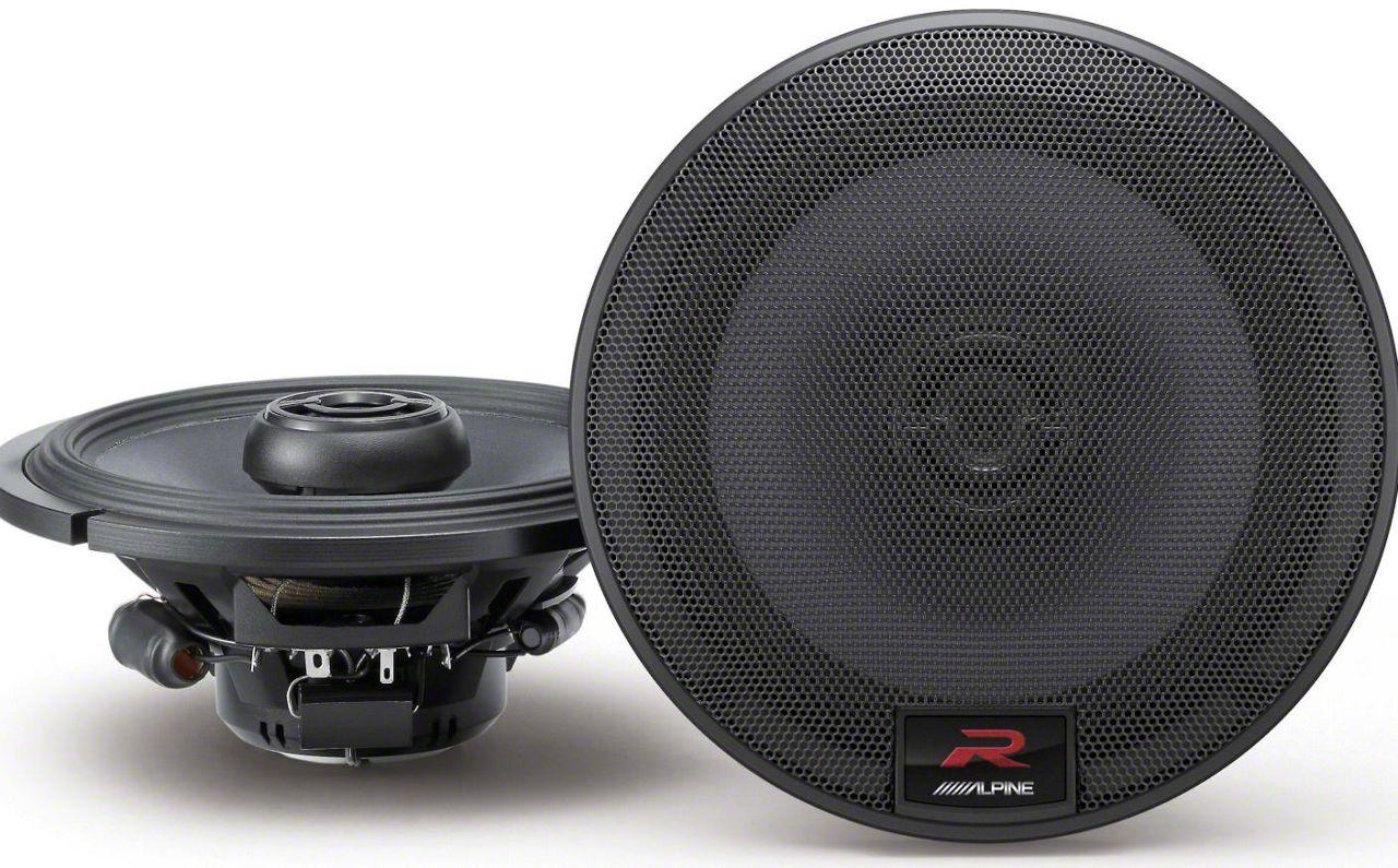 Alpine R-Series 6-1/2 in. Coaxial 2-Way Speakers - 100W (07-18 Jeep Wrangler JK)