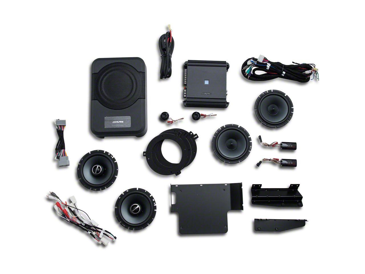 Alpine Full Sound System Upgrade - 320W (07-18 Jeep Wrangler JK 4 Door)