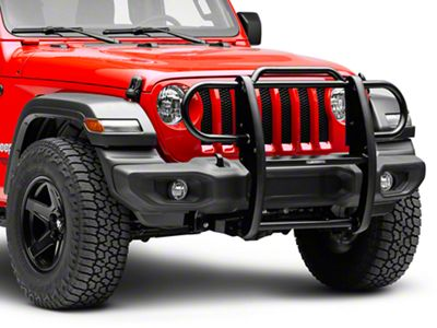 Black Horse Off Road Grille Guard - Black (2018 Jeep Wrangler JL)