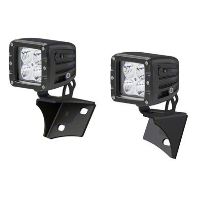 Aries Automotive 2 in. LED Cube Lights w/ Windshield Mounting Brackets (07-18 Jeep Wrangler JK)