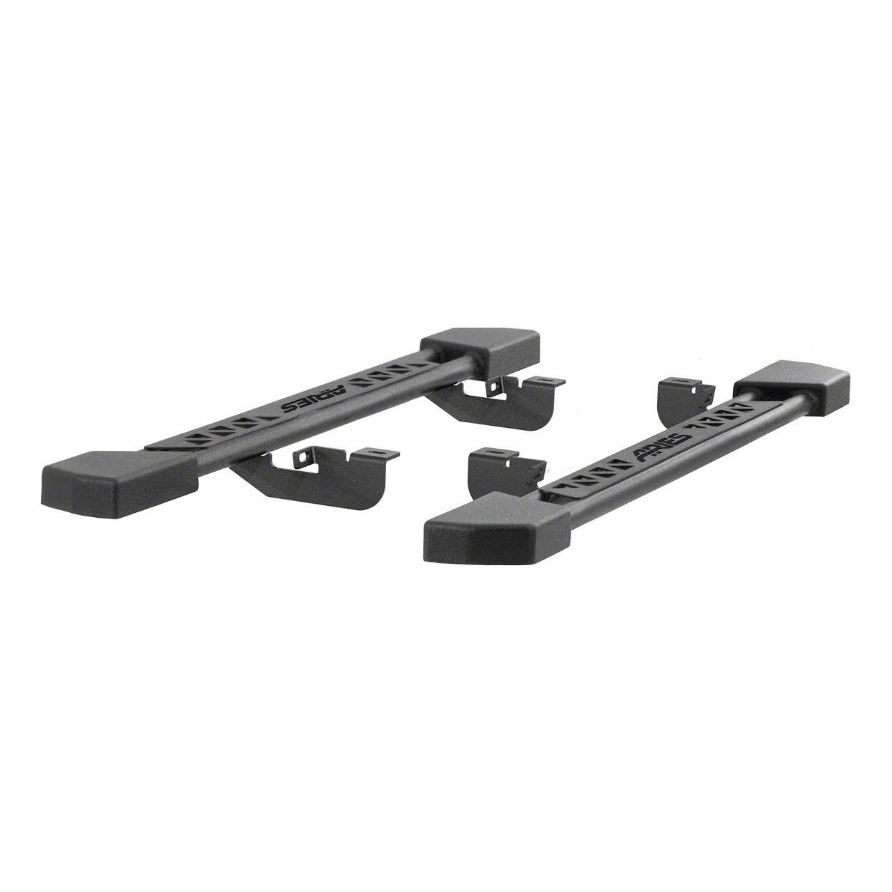 Aries Automotive Rocker Side Step Bars - Textured Black (07-18 Jeep Wrangler JK 2 Door)