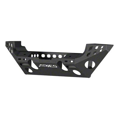 Aries Automotive TrailChaser Aluminum Full Width Front Bumper - Textured Black (07-18 Jeep Wrangler JK)