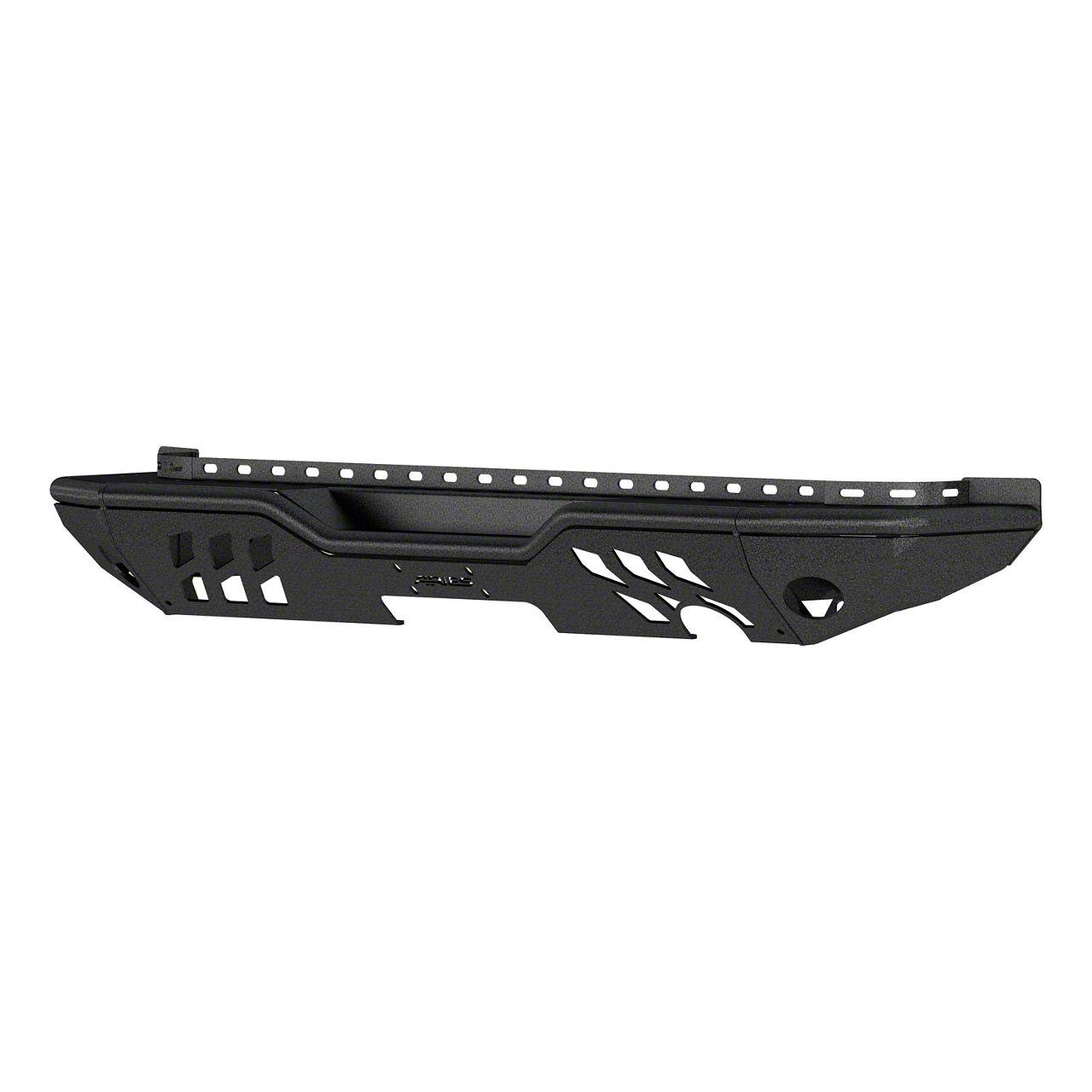 Aries Automotive TrailChaser Steel Full Width Rear Bumper - Textured Black (07-18 Jeep Wrangler JK)