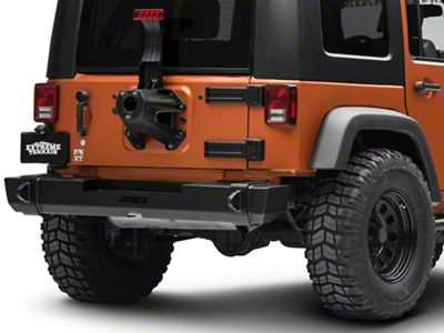 Aries Automotive TrailCrusher Rear Bumper - Carbide Black (07-18 Jeep Wrangler JK)