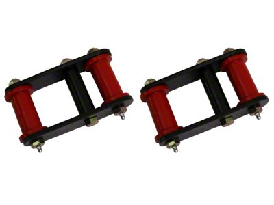 Omix-ADA HD Greasable Front Shackles Pair w/ Red Bushings (87-95 Jeep Wrangler YJ)