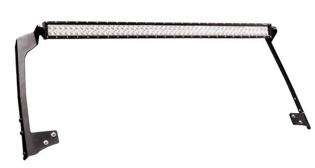 N-Fab 49 Series LED Light Bar Windshield Mounting Brackets - Textured Black (97-06 Jeep Wrangler TJ)