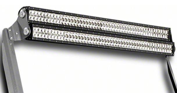 N-Fab 50 in. Rigid SR-Series LED Light Bar Windshield Mounting Brackets - Textured Black (07-18 Jeep Wrangler JK)