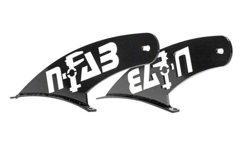 N-Fab Dual 50 in. Rigid E-Series LED Light Bar Windshield Mounting Brackets - Textured Black (07-18 Jeep Wrangler JK)