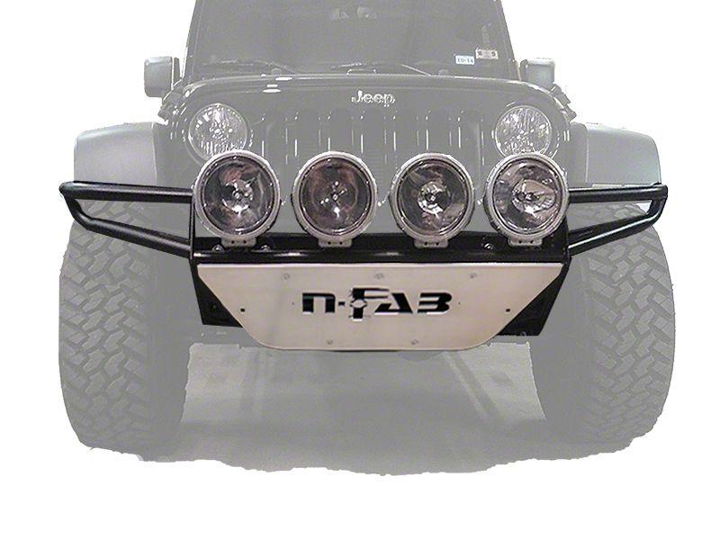 N-Fab RSP Front Bumper w/ Multi-Mounted for LED Lights - Textured Black (07-18 Jeep Wrangler JK)