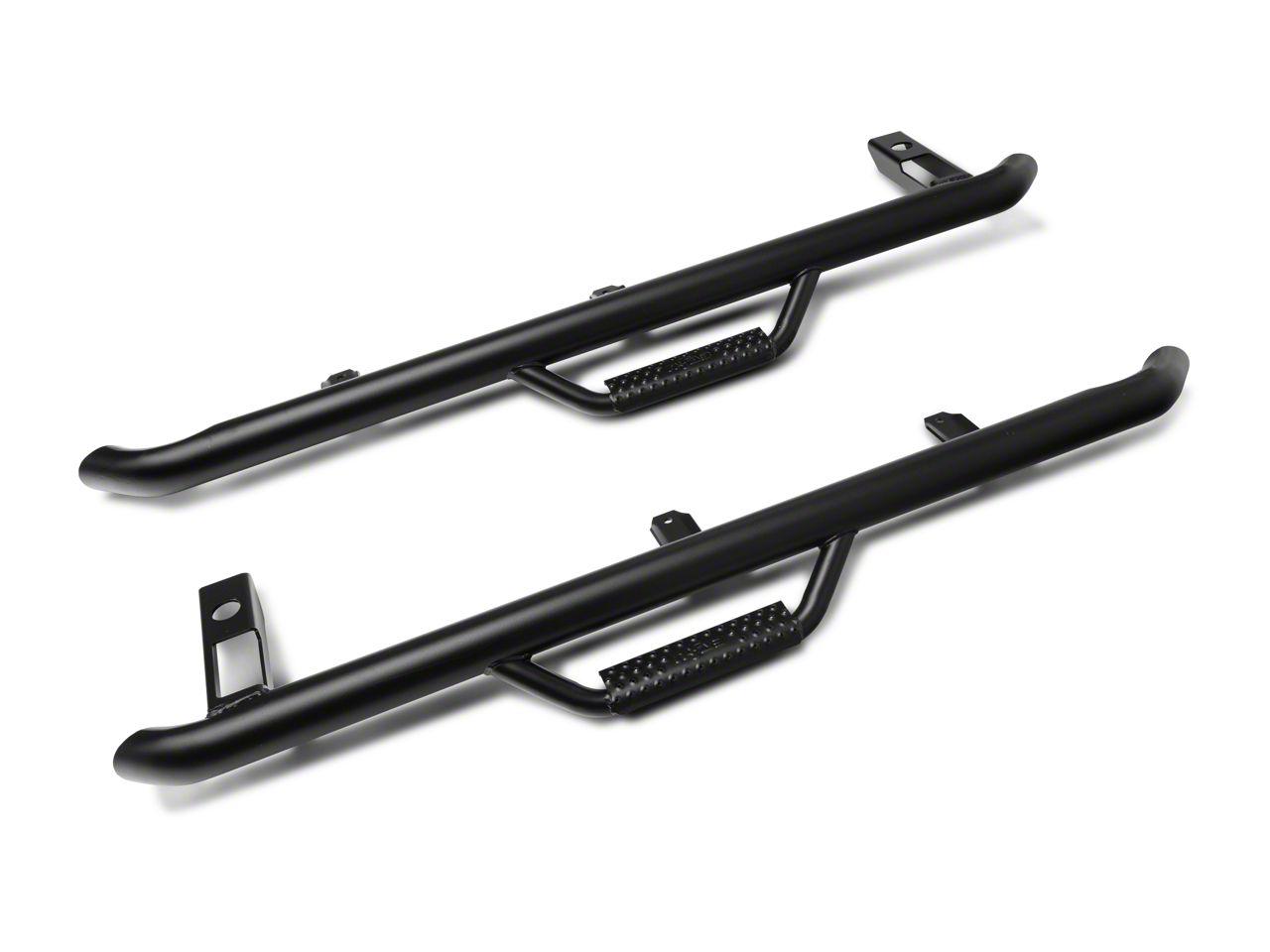 N-Fab Wheel 2 Wheel Nerf Side Step Bars - Textured Black (04-06 Jeep Wrangler TJ Unlimited)