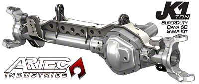 Artec Industries 1 Ton 99-04 Super Duty Front Dana 60 Swap Kit (07-18 Jeep Wrangler JK)