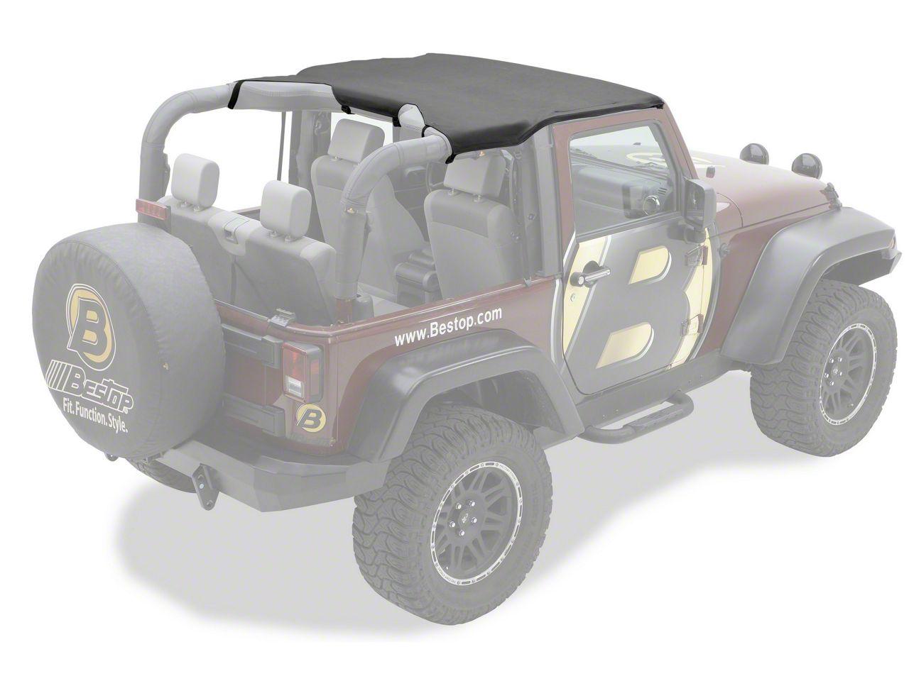 Bestop Targa Style Sun Bikini Top - Black (10-18 Jeep Wrangler JK 2 Door)