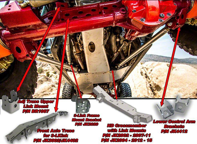 Artec Industries Front 3-Link Kit (07-18 Jeep Wrangler JK)