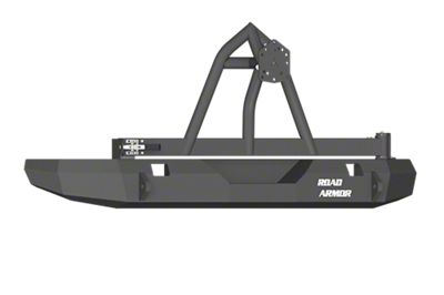 Road Armor Stealth Rear Bumper w/ Tire Carrier - Satin Black (07-18 Jeep Wrangler JK)