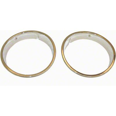 Rugged Ridge Headlight Bezels - Chrome (97-06 Jeep Wrangler TJ)