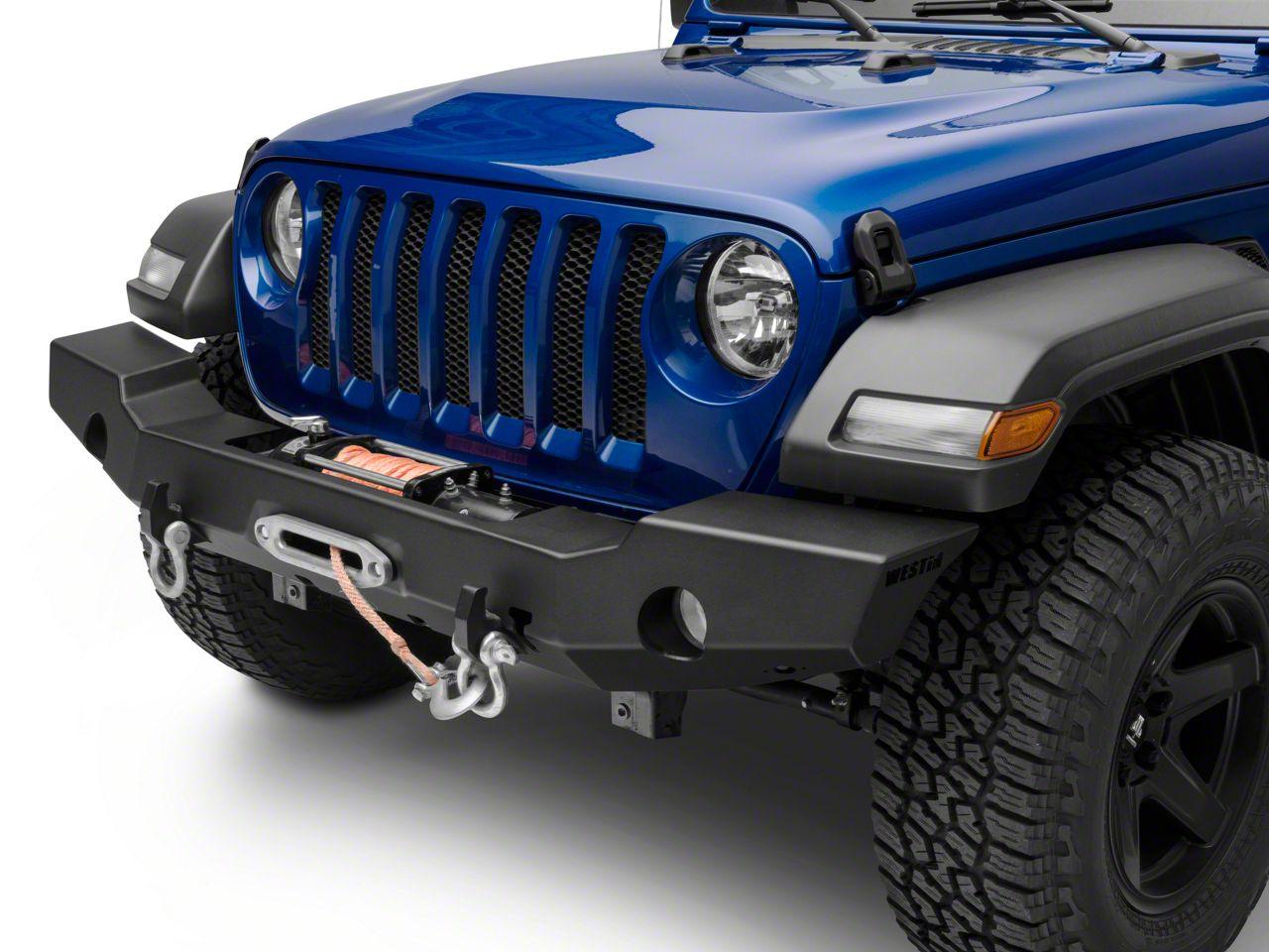 Westin WJ2 Full Width Front Bumper - Textured Black (2018 Jeep Wrangler JL)