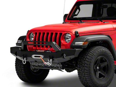 Westin WJ2 Full Width Front Bumper w/ LED Light Bar - Textured Black (2018 Jeep Wrangler JL)