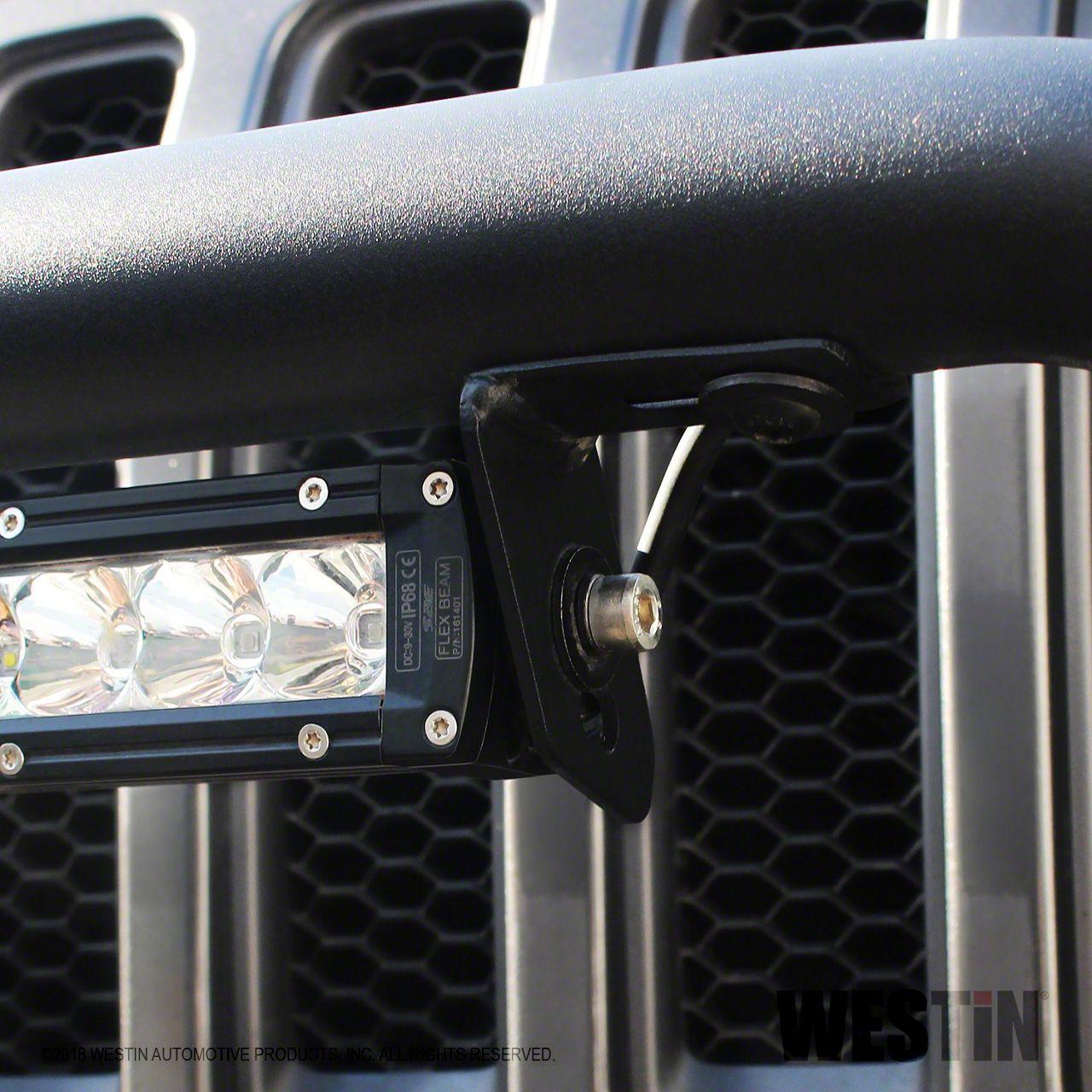 Westin LED Bracket Kit for WJ2 Front Bumper (07-18 Jeep Wrangler JK)