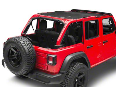 Steinjager Teddy Top Full Length Solar Screen Cover - Black (18-19 Jeep Wrangler JL 4 Door)